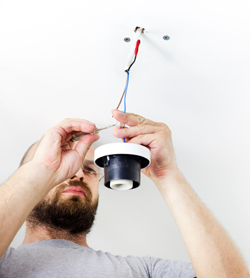 Electrician Fitting Light